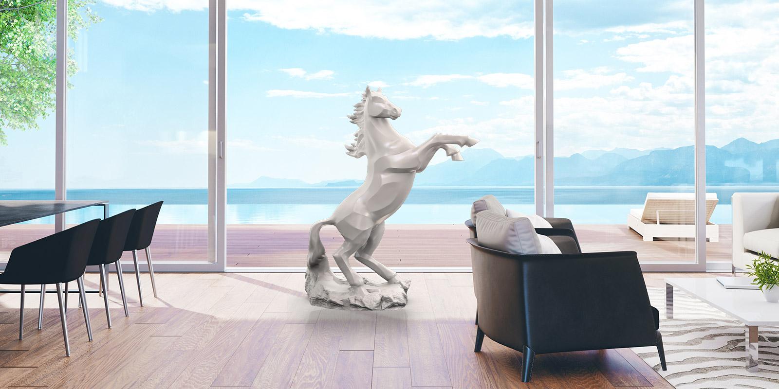 Courant Vert Spirit Bronze Sculpture Horse